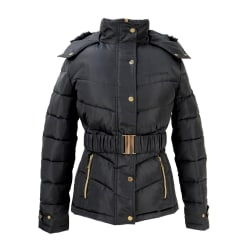 Coldstream Kvinnors / damer Cornhill Quilted Coat XL Svart