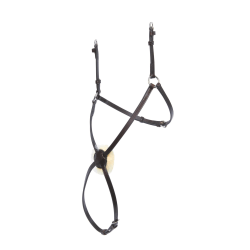Collegiate Läder Mono Crown Grackle Noseband Full Brun