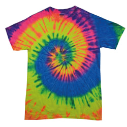 Colortone Kids / Childrens Rainbow Tie-Dye Heavyweight T-Shirt LN Neon Rainbow L