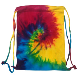 Colortone Tie Dye Sports Drawstring Tote Bag (paket med 2) One S