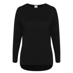 Comfy Co Damer / damer med stora tröjor XS Svart