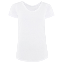 Comfy Co Damer sömnig T-shirt med kort ärm T-shirt S Vit