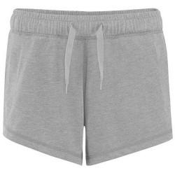Comfy Co Elastiska lounge-shorts för kvinnor / damer L Heather G