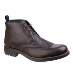 Cotswold Avening Brogue läder Chukka stövlar för män 11 UK Brun