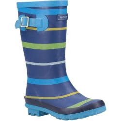 Cotswold Pojkar Stripe Wellington Boot 13 UK Child Blå / Grön /