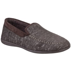 Cotswold Stanley Moc Toe Full Slipper för män 6 UK Brun