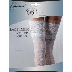 Couture Kvinnor / damer brud spets design håll-ups (1 par) Large