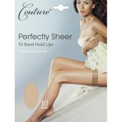 Couture Kvinnor / damer perfekt Sheer Tri Band Hold Ups (1 par)