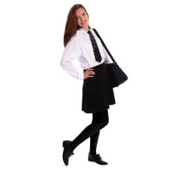 Couture Ungdomsflickor Stegsäker Opaque skolbyxor Medium Svart