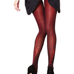 Couture Vixen Brigitte Opaque Backseam Tights för kvinnor / dame