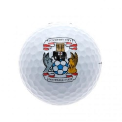 Coventry City FC Golfbollar (paket med 3) One Size Vit