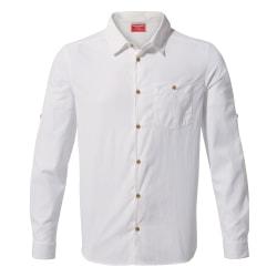 Craghoppers Herr NosiLife Nuoro långärmad skjorta S Optisk vit