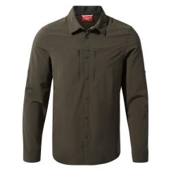 Craghoppers Herr NosiLife Pro IV långärmad skjorta L Woodland Gr