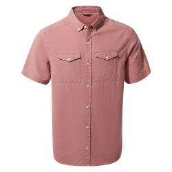 Craghoppers Kiwi Linne kortärmad skjorta för män M Lätt Radicchi