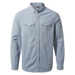 Craghoppers Långärmad skjorta för män Kiwi Linne M Fogle Blue