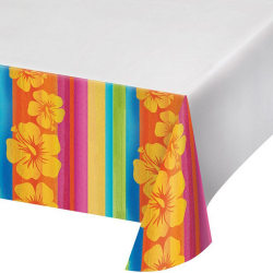 Creative Converting 108in Aloha Summer Printed Plastic Tablecove