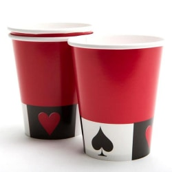 Creative Converting 8 kort Night 9oz Party Cups 9oz Röd / Vit /