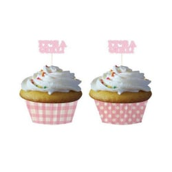 Creative Converting Bakningskoppar med val (paket med 12) One Si