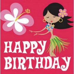 Creative Converting Hula Birthday 2 Ply Servetter (paket med 16)