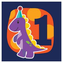 Creative Converting Little Dino 1: a födelsedag 3 Ply servetter