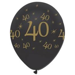 Creative Party 12 tums runda tryck latexballonger (paket med 6)