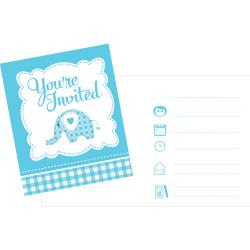 Creative Party Baby Sweet Elephant Inbjudningar (paket med 8) On
