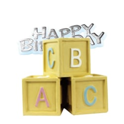 Creative Party Babyblocks & Motto Cake Topper One Size Flerf