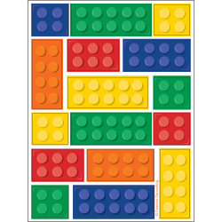 Creative Party Building Blocks Party Value Stickers (paket med 4