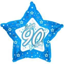 Creative Party Glad 90-årsdag blå stjärna ballong 18in Blå