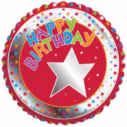 Creative Party Grattis på milstolpe ballong 18in Flerfärgade
