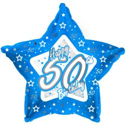 Creative Party Happy 50th Birthday Balloon 18in Blå