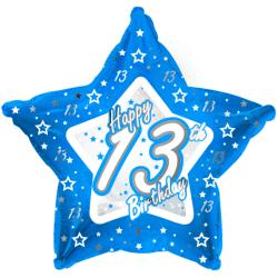 Creative Party Lycklig 13-årsdag Blue Star Balloon 18in Blå