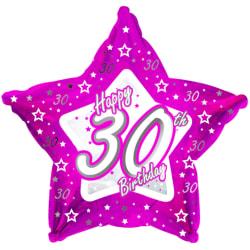Creative Party Lycklig 30-årsdag Pink Star Balloon 18in Rosa