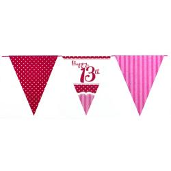 Creative Party Perfekt rosa 13: e födelsedagsbunting (12 fot) On