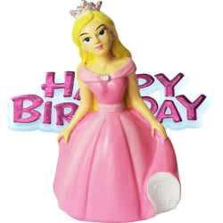Creative Party Princess & Motto Cake Topper One Size Rosa