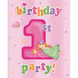 Creative Party Roligt vid 1 födelsedagsinbjudningar (paket med 8