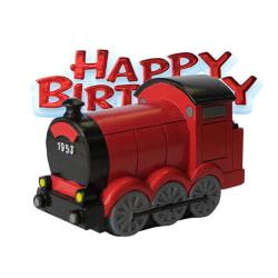 Creative Party Tåg & Happy Birthday Cake Topper One Size Röd