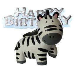 Creative Party Zebra & Motto Cake Decoration Topper One Size