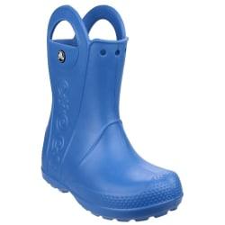 Crocs Barn / barn hanterar det Wellington-stövlar 3 UK Blå
