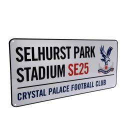 Crystal Palace FC Officiell gatuskylt One Size Vit