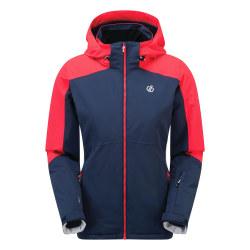 Dare 2B Dam / Ladies Radiate Ski Jacket 10 UK Dark Denim / Neon