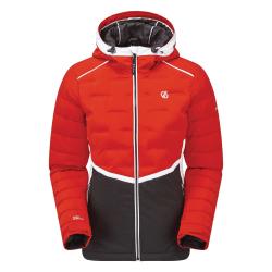 Dare 2B Kvinnor / damer Vividly Quilted Ski Jacket 12 UK Röd / S