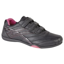 Dek Kvinnor / Ladies Raven 3 Touch Fastening Trainers 7 UK Svart