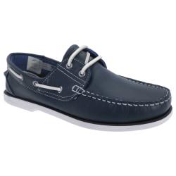 Dek Läder som inte märker mockasinbåtskor 11 UK Marinblå