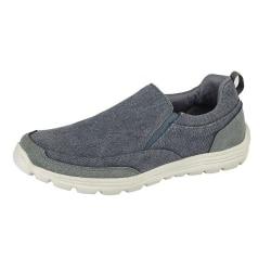 Dek Mens Memory Foam Slip On Shoes 7 UK Marin