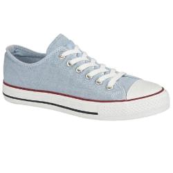 Dek Tvättade skor för kvinnor / damer 5 UK Ljusblå