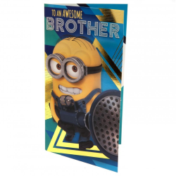 Despicable Me 3 Minion Brother födelsedagskort One Size Gul / Bl