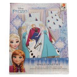 Disney Frozen Barnflickor Ljus vändbar täcke täcke sängkläder se