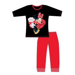 Disney Girls Minnie Mouse Pyjamas 5-6 Years Svart röd