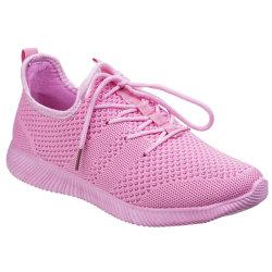 Divaz Heidi stickade skor för kvinnor / damer 7 UK Rosa